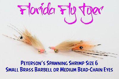 Bonefish Hook - Petersons Spawning Shrimp Bonefish (1, 3, or 6 Fly Lot) Size 6 - Gamakatsu Hooks