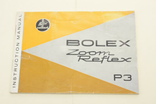 Bolex Zoom Reflex P3 Instruction Manual - Some highlighting English - USED B85B