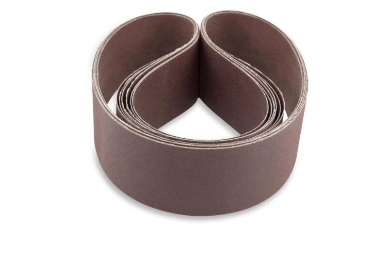 2 X 42 Inch 400 Grit Flexible Aluminum Oxide Multipurpose Sanding Belts, 6 Pack