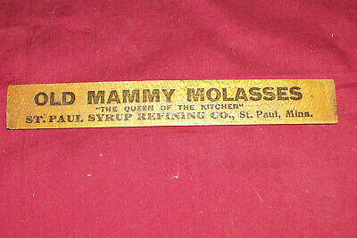 """Old Mammy Molasses Cane Syrup Advertising 6"""" Ruler Negro Black African American, used for sale  Poteau"""