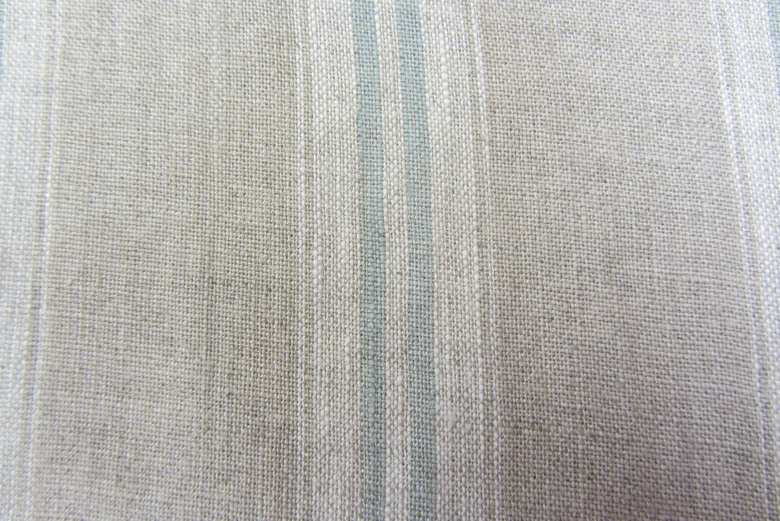 French vintage linen stripe duckegg curtain craft for Curtain fabric