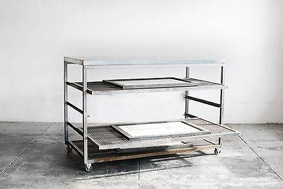 Custom Steel Rolling Rack With Expanded Metal Shelves Custom Order