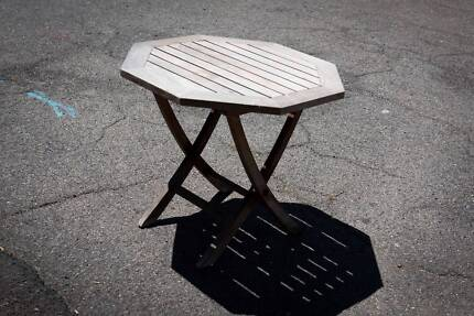 Small Outdoor Wooden Table