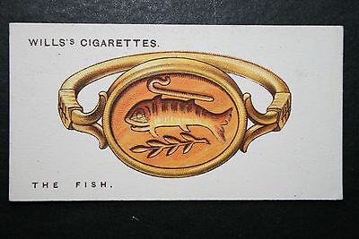 Fish  Charm Picture  Original 1920's Vintage Card  VGC