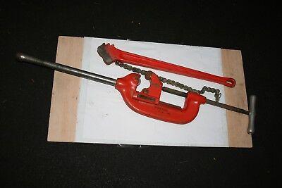 Ridgid No.4-s Pipe Cutter B-183-1 C-24 Heavy Duty Chain Wrench 3 2 Piece Usa