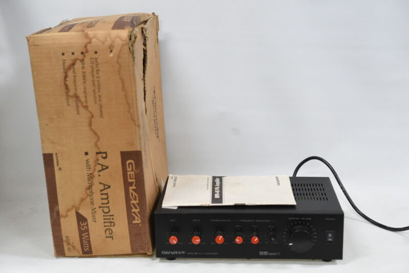 Genexxa MPA-46 35 Watt P.A. Amplifier with Microphone Mixer