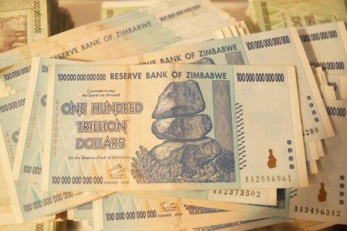 1 x 100 Trillion zimbabwe Circulated 2008 series AA - /100 Trillion series