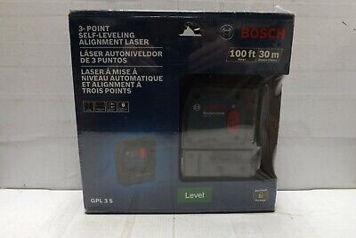 Bosch GPL 3 S 100ft 3-point Self-leveling Alignment Laser BRAND NEW