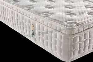 Spring Mattress DELUXE Euro Top Memory Foam Fabric Queen Chipping Norton Liverpool Area Preview