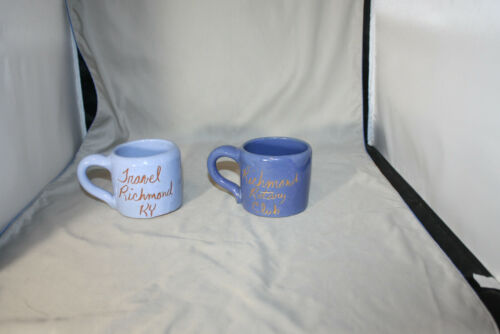 Lot of 2, Bybee, Richmond KY , 12 ounce Blue Mugs
