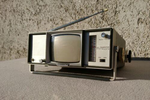 Universum FK100R Portable Mini Television & FM/AM Radio Made in Germany 1968