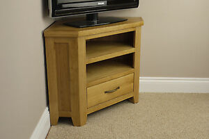 CHELSEA-OAK-CORNER-TV-PLASMA-DVD-VIDEO-UNIT-SOLID-CABINET-STAND-LIVING-ROOM