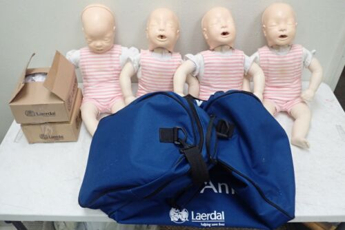 Laerdal Baby Anne Infant CPR Nursing Training Manikins with Bag and Extras