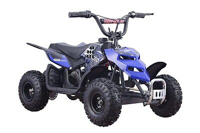 Four Wheelers Blue Electric Battery Ride On Mini Quad For Kids ATV 250W 24V Toy