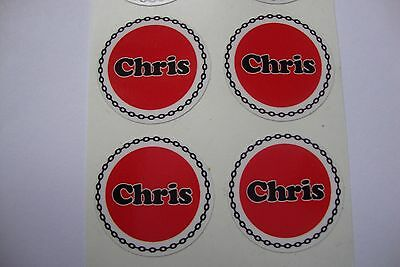 """12  Chris  CROWN GREEN STICKERS  1""""   LAWN BOWLS FLATGREEN  AND INDOOR BOWLS"""