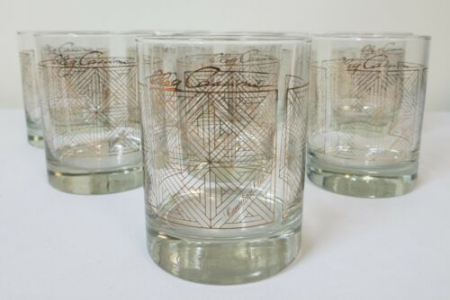 VTG 8 OLEG CASSINI for CANADIAN CLUB Double Old Fashioned Glasses NEW OLD STOCK