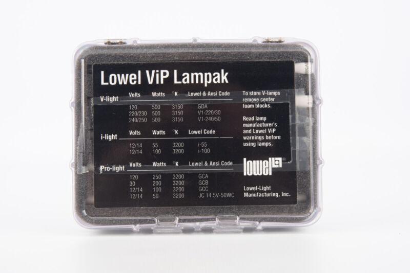 Lowel VIP Lampak of 5 Ushio GDA JP120V-500WC2 Halogen 3100K Replacement Bulbs V5