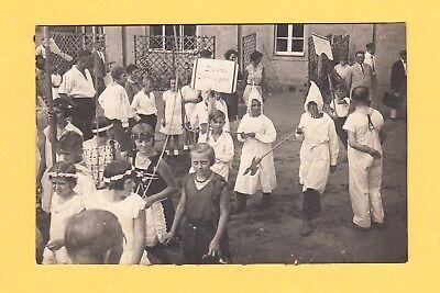um 1928 Echtphoto AK - KINDERFEST in Sachsen - die drei EISHEILIGEN