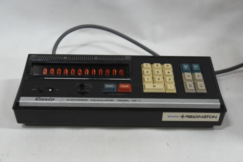 Vintage CASIO AS-L Calculator - 12 Nixie Tube Display - Made in Japan