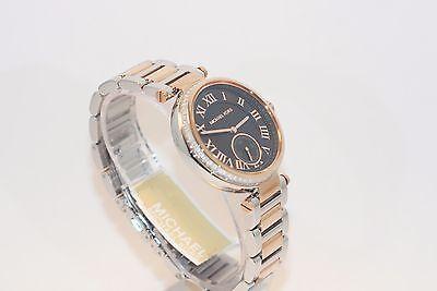 0aebd8519 Michael Kors Skylar Rose Gold Tone Baguette Studded Crystal Bezel Watch -  MK5957