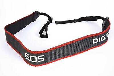 """Canon Neck Strap 1.5"""" Gray/Red Edge Stitched White """"EOS Digital"""" EX"""
