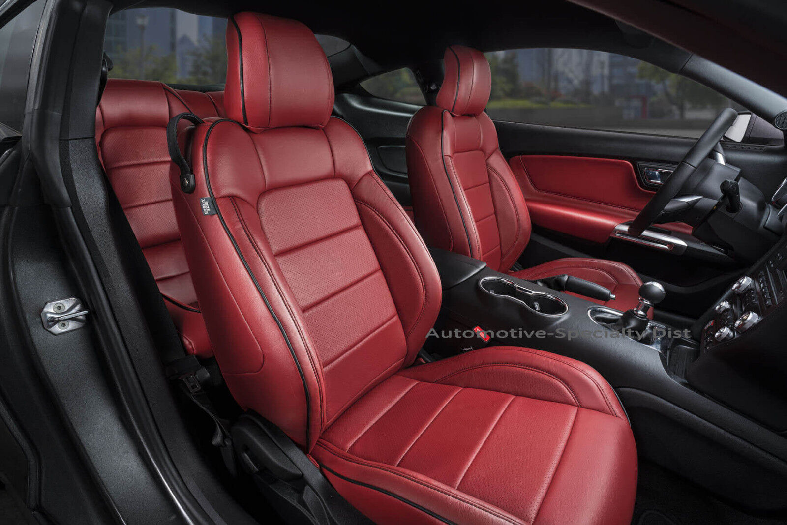 Katzkin cardinal red replacement leather interior seat covers fits 2015 2019 ford mustang coupe v6 gt eco