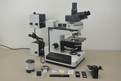 Leitz Diaplan Fluorescent Microscope 3 Objectives W Accessories 10912 E31