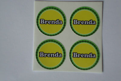"""Brenda 12  CROWN GREEN STICKERS  1""""   LAWN BOWLS FLATGREEN  AND INDOOR BOWLS"""
