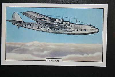Armstrong Whitworth Ensign   Imperial Airways Original 1930's Vintage Card  VGC