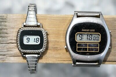 Vintage PHASAR 2000 Digital Men's and Women's Watches, Working