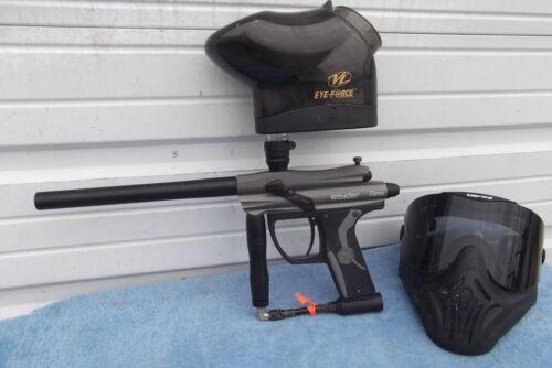 Spyder Fenix paintball gun w/hopper and Mask