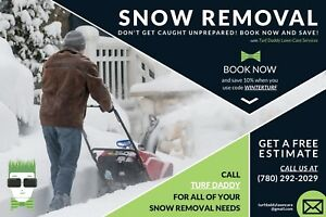 Spruce Grove Snow Removal Service: Turf Daddy Lawn Care Services