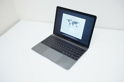 "Apple MacBook 12"" Mid 2017 1.2 GHz Core m3 256GB HD 8GB RAM Laptop"