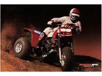 Honda ATC250R Poster  24x33  1981 1982  250R  ATC Team Honda 81 82 83 84 85