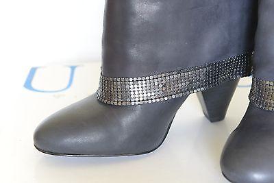Guess Stiefellette Stiefel Größe 37 dunkelgrau super weich Leder NEU mit Karton