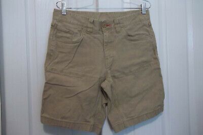 MEN'S THE NORTH FACE CLIFF ROCK KHAKI CANVAS SHORTS OUTDOORS HIKING SIZE 32