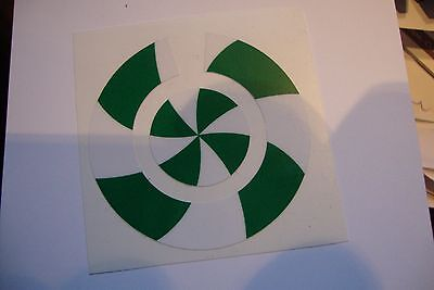 16 GREEN AND WHITE  CROWN GREEN BOWLS STICKERS LAWN BOWLS  8 FINGER 8 THUMB