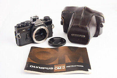Olympus OM-2 35mm SLR Film Camera Body With Cap Case And User Manual V19 - $129.99