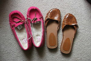 Ladies Aldo Flip-Flop Shoes and Old Navy Mocassins Size 6