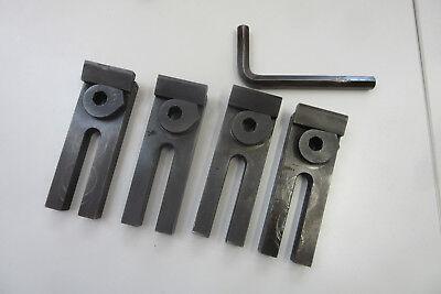 4 Spannpratzen, Pratzen ,Maße 56 x 165 x 32 mm , Breite Nut 18 mm , Inbus. 14 mm