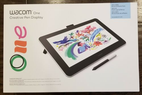NEW! Wacom One 13.3 inch Graphics Tablet - Flint White DTC133W0A