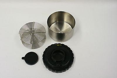 Stainless steel film developing tank w/35mm film reel with lid & cap