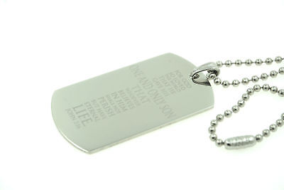 John 3:16 Bible Verse Cross Custom Engraved Dog Tag Pendant Necklace Christian - Custom Dog Tag Necklace