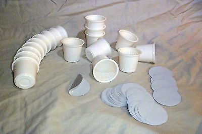 Paper Cup Cups - Empty KCup Cups with Sealed Filter Paper and Lids for Keurig Single Serve Coffee
