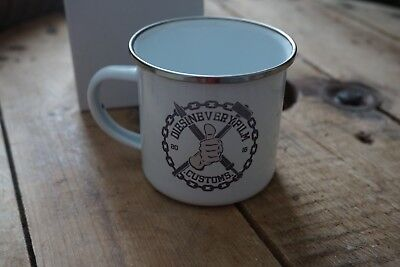 Diesineveryfilm customs Retro Tin Enamel 12oz Mug cup - Custom Tin Mugs
