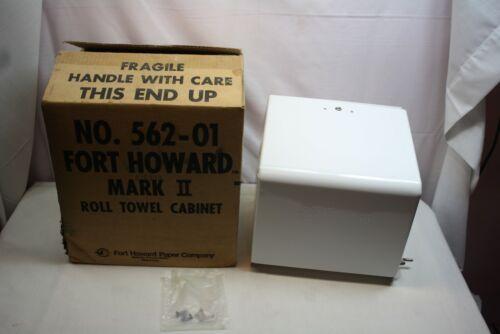 Vintage Fort Howard Bathroom Towel Roll Cabinet Dispenser Mark II #562-01 Unused