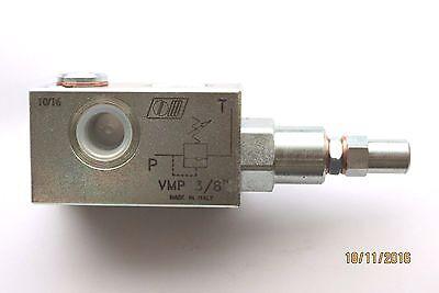 Druckbegrenzungsventil G 3/8 40 lt/min, mit Messanschl  1/4- Einstl 10-200 bar