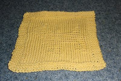Brand New Hand Knit Cairn Terrier Dog Yellow Dish Cloth For Dog Rescue Charity