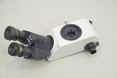 Nikon 1.25x Siedentopf Binocular Microscope Trinocular Head Cfw10x 15000 E12