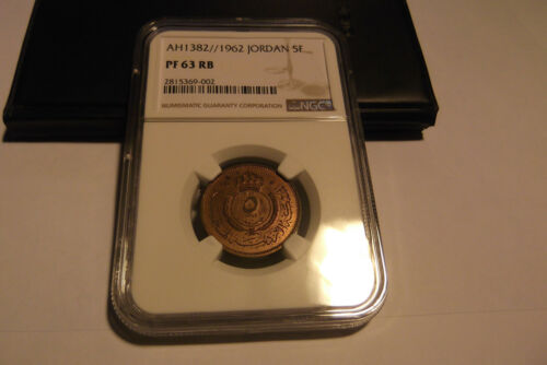 1962 JORDAN 5 FILS NGC PROOF 63 RED BROWN V.I.P. RARE KM-9